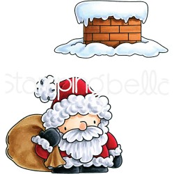 Santa & His Chimney The Littles Christmas Collection Cling Rubber StampStamping Bella