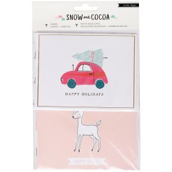 Snow & Cocoa Cards Envelopes Crate Paper