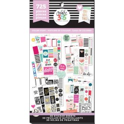 Color Story Classic Create 365 The Happy Planner Sticker Value Pack