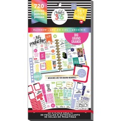 Rainbow Big Create 365 The Happy Planner Sticker Value Pack