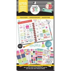 Teacher Big Create 365 The Happy Planner Sticker Value Pack