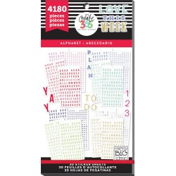 Alphabet Classic Create 365 The Happy Planner Sticker Value Pack