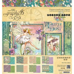 "Farie Dust Papercrafting Paper 8""x8"" Graphic 45"