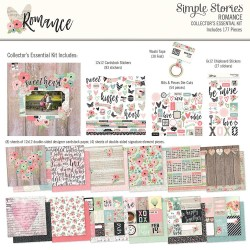 """Romance Collector's Essential Kit 12""""x12"""" Simple Stories"""