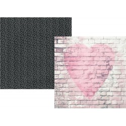 """Love Story Double-Sided Cardstock 12""""x12"""" Romance Collection Simple Stories"""