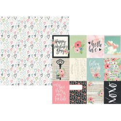 """Journaling Card Elements Double-Sided Cardstock 12""""x12"""" Romance Collection Simple Stories"""