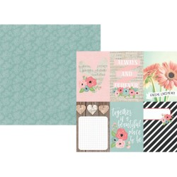 """Vertical Elements Double-Sided Cardstock 12""""x12"""" Romance Collection Simple Stories"""
