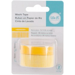 Reminders Yellow Washi Tape We R Memory Keepers