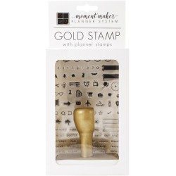 Gold Stamp with Planner Stamps Moment Maker Planner System DCWV
