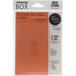 Stitched Rectangle Layers Open Studio Die Memory Box