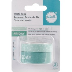 Days Of The Week Aqua Washi Tape We R Memory Keepers