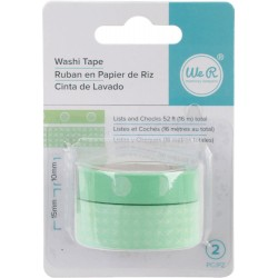 Lists & Checks Mint Aqua Washi Tape We R Memory Keepers