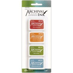 Kit 4 Archival Mini Ink Pad Kits by Wendy Vecchi Ranger