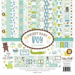 """Sweet Baby Boy Collection Kit 12""""x12"""" Echo Park"""