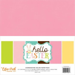 """Hello Easter Coordinating Solids Paper Pack 12""""x12"""" Echo Park"""