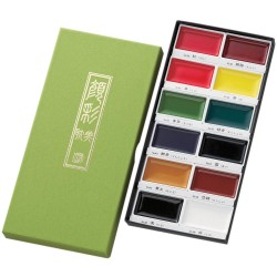 12 Colours Set Kuretake Gansai Tambi