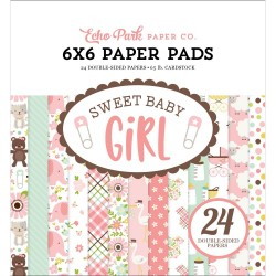 "Sweet Baby Girl Paper Pad 6""x6"" Echo Park"