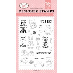 Sweet Baby Girl Photopolymer Stamp Echo Park