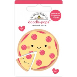 Pizza Lovet Doodle-Pops 3D Cardstock Sticker Doodlebug