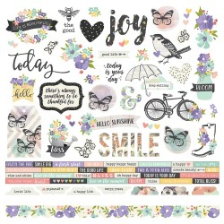 "Bliss Combo Cardstock Stickers 12""x12"" Simple Stories"