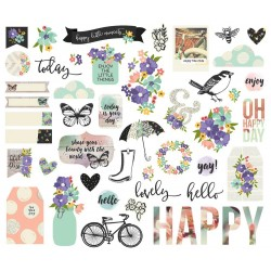 Bliss Bits & Pieces Cardstock Die-Cuts 48 pcs Simple Stories