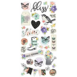 "Bliss Chipboard Stickers 6""x12"" Simple Stories"