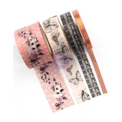 Cherry Blossom Decorative Tape 4 Pkg Prima Marketing