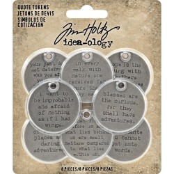 Quote tokens Idea-ology by Tim Holtz