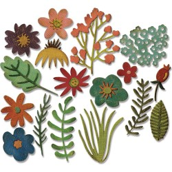Funky Floral Thinlits Dies by Tim Holtz Sizzix