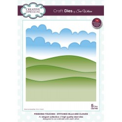 Finishing Touches Stitched Hills & Clouds Craft Dies By Sue Wilson Creative Expressions