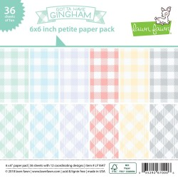 """Gotta Have Gingham Single-Sided Petite Paper Pack 6""""x6"""" Lawn FAwn"""