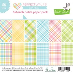 """Perfectly Plaid Spring Single-Sided Petite Paper Pack 6""""x6"""" Lawn FAwn"""