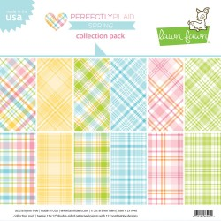 """Perfectly Plaid Spring Collection Pack 12""""x12"""" Lawn FAwn"""