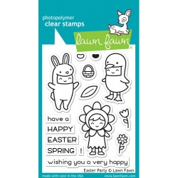 "Easter Party Clear Stamp 3""x4"" Lawn Fawn"