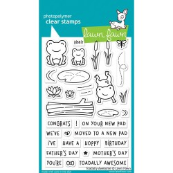 "Toadally Awesome Clear Stamps 4""x6"" Lawn Fawn"