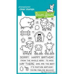 "Hay There Clear Stamps 4""x6"" Lawn Fawn"