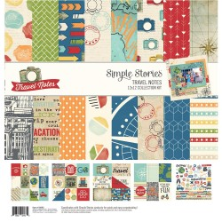 "Travel Notes Collection Kit 12""x12"" Simple Stories"