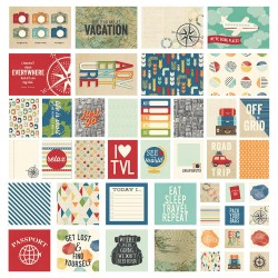 Travel Notes Sn@p! Cards Pack 48 Pkg Simple Stories