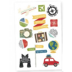 "Travel Notes Stickers 4""x6"" Simple Stories"