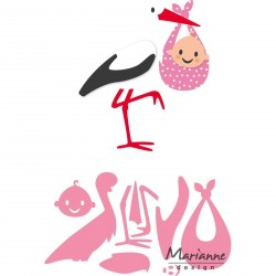 Eline's Stork Collectables Marianne Design