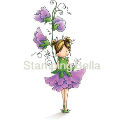 Tiny Townie Garden Girl Sweet Pea Rubber Stamps Stamping Bella