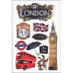 "London 3D Stickers 4,5""x8,5"" Paper House"