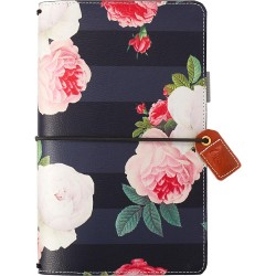 "Black Floral Color Crush Traveler's Notebook Planner 5,75""x8,75"" Webster's Pages"