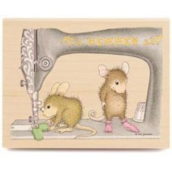 Perfect Fit House Mouse Wood Stamp