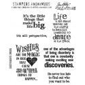 Good Thoughts Tim Holtz Cling Mounted Red Rubber Stamp Set