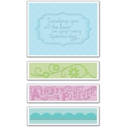 Wedding 3 Textured Impressions Embossing Folders