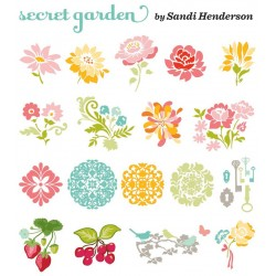 Secret Garden Slice Fabrique Card