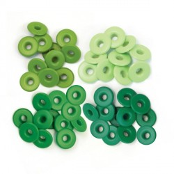 Green Eyelets Wide