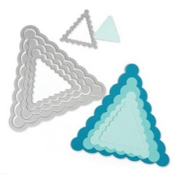 Banners Pennant Scallop Framelits Sizzix