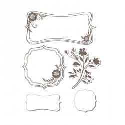 Frames With Sprigs Framelits with Clear Stamps Sizzix